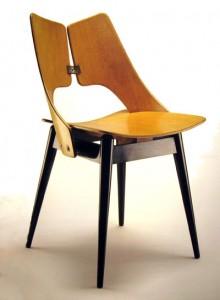 "krzesła ze sklejki, Jan Kurzątkowski, Teresa Kruszewska, Muszelka T. Kruszewska, J. Kurzątkowski krzesło ""Piórko"", Royal Arts,"