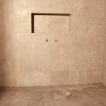 beton w łazience, łazienka beton, płyty betonowe, płytki betonowe